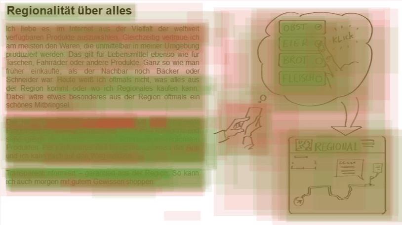 Heatmap Konzept Regionalität, Verbal+Grafik
