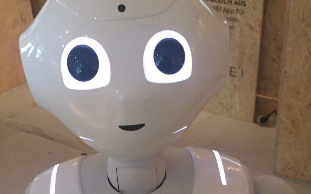 Roboter Pepper im Shopping Lab