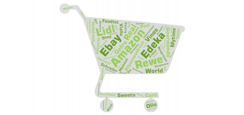 Wordcloud Nahrungsmittel Online Anbieter