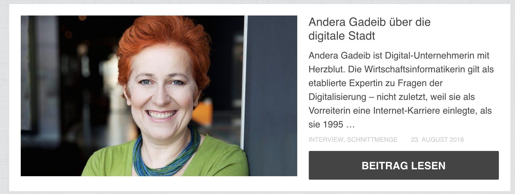 Andera Gadeib über die digitale Stadt