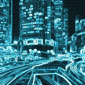 Grafik digitale Stadt