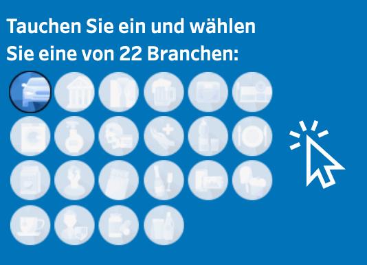 22 Branchen im Online-Dashboard